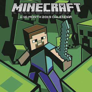 2019 Minecraft Wall Calendar