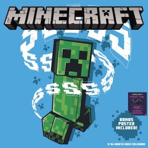 2022 Minecraft Wall Calendar With Poster
