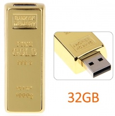 32GB gold bar flash drive