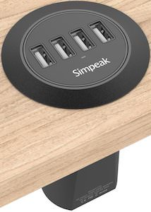 4 USB port desk charger