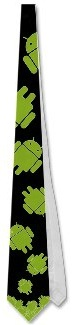 Google Android falling necktie