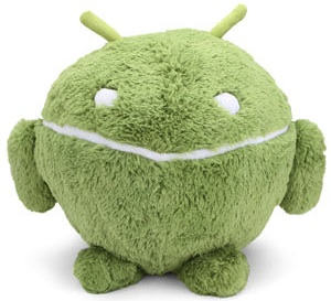 A huge android plush robot great for hugging