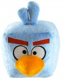 Angry Birds Space plush version of the Ice bird