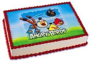 Angry Birds edible Cake topper