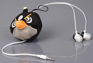 Angry Birds Black Bird earbuds