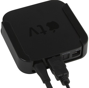 Apple TV mount for behind the TV