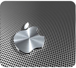 Apple Metal looking Logo Mousepad