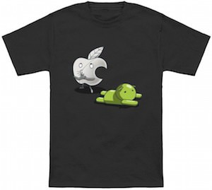 Apple Tripping Android T-Shirt