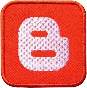 Blogger Logo Clothing Patch