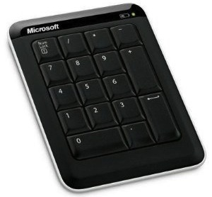 A bluetooth keypad made by Microsoft