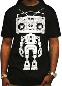 Boombox Boy Bot T-Shirt