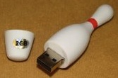 2Gb bowling Pin flash drive to store your bowling files on