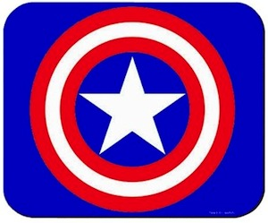 Captain America Shield mousepad