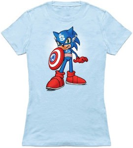 Captain Sonic The Hedgehog T-Shirt