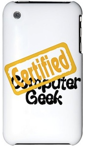 White iphone certified computer geek case