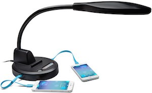 Desk Lamp With USB Charging Ports
