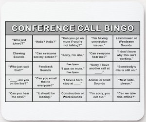 Conference Call Bingo Mousepad