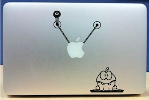 Cut The Rope Om Nom Laptop Decal
