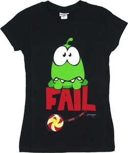 Cut The Rope Fail t-shirt for women