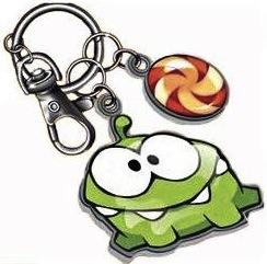 Om Nom key chain