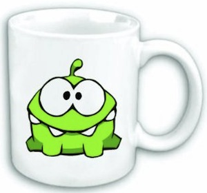 Om Nom coffee mug from Cut the rope