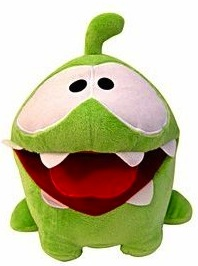"Cut the rope Om Nom 5"" plush"