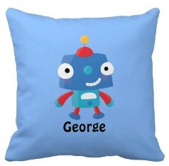Cute personal robot pillow