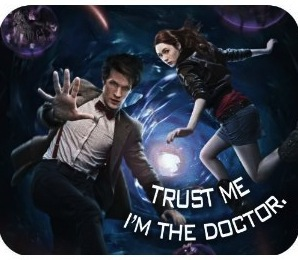Doctor Who and Amy Pond mousepad