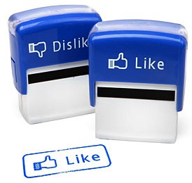 Facebook like / dislike button but then as real live stamps