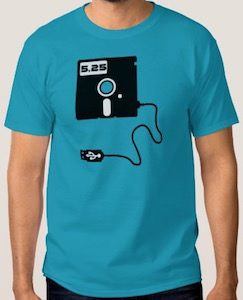 5.25 Floppy Disk With USB T-Shirt