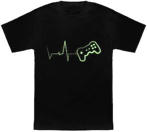 Game controller heart beat t-shirt