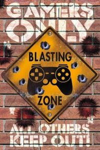 Gamers Only Blasting Zone Poster