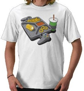 Continuous gaming t-shirt