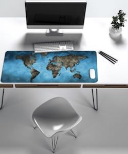 Giant World Map Mousepad