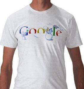 Google Doodles holiday t-shirt