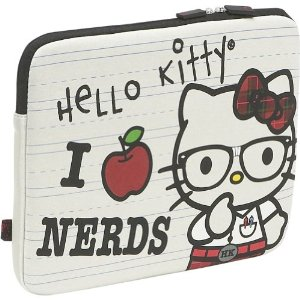 Hello Kitty i love nerds laptop sleeve