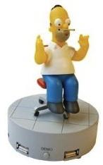 Homer Simpson 4 port usb hub