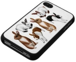 If you like rabbits then you will love this iPhone case with lots of rabbits on it.