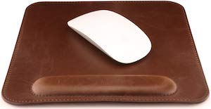 Leather Mousepad With Wrist Rest