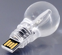 LED lightbulb thumb drive