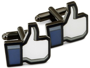 Facebook like button cufflinks