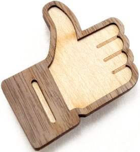 Facebook Like Button Wooden Magnet