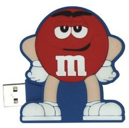 Red M&M flash drive