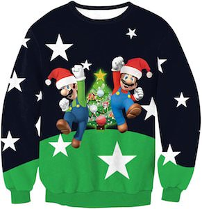 Marion And Luigi Ugly Christmas sweater