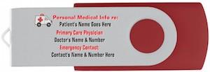 Personalized Medical Emergency USB Flash Drive