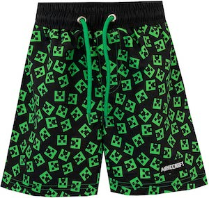 Minecraft Creeper Swim Shorts