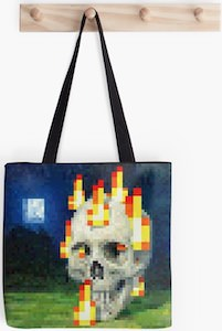 Minecraft Painting Tote Bag