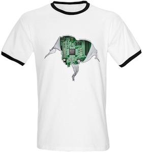 Motherboard Inside T-Shirt
