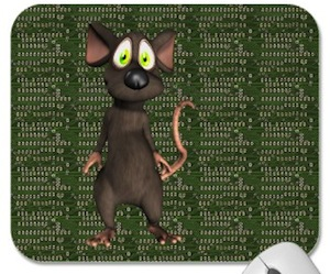 Mouse on circuit board mousepad