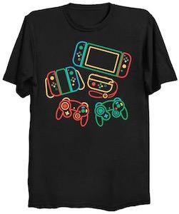Neon Nintendo Controllers T-Shirt